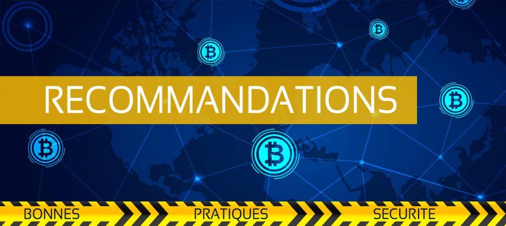 Bannière Recommandations securite Bitcoin