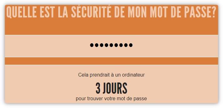 Test force mot de passe