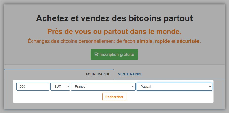 Recherche vendeurs LocalBitcoins