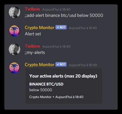 Alerte personnalisée des prix