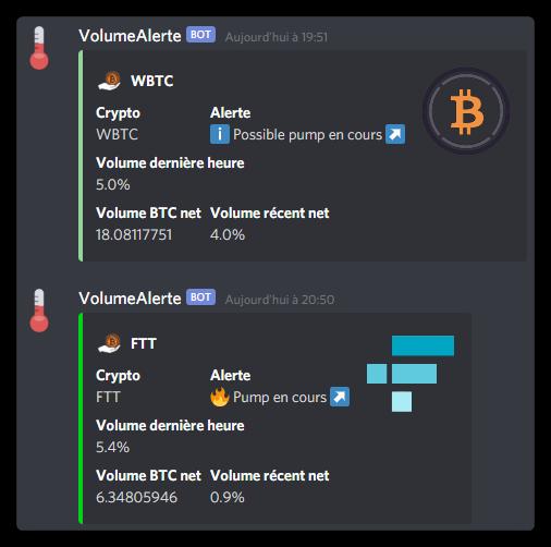 Alertes volume