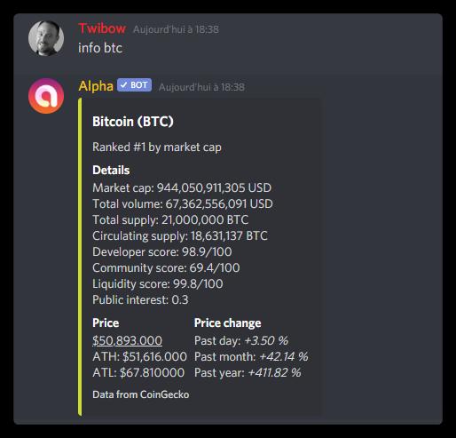 Infos crypto